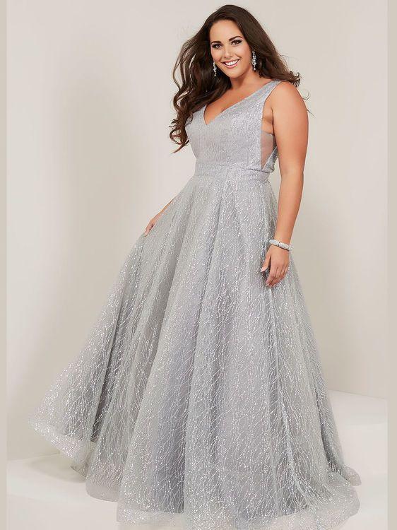 A-line Plus Size Prom Dress Tiffany Designs 16373 | Plus ...