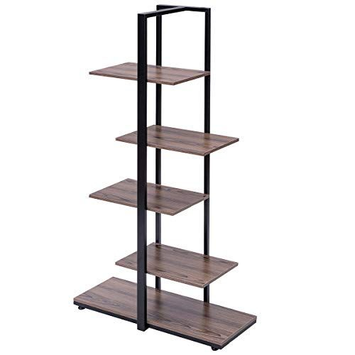 Arin Shop Shelves 60 Inches Modern Bookcase Picture Plant Display