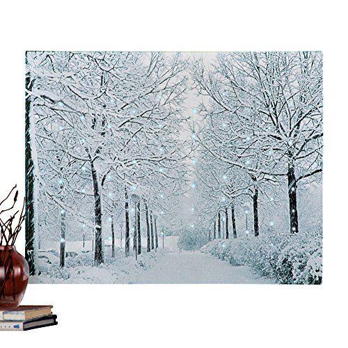 Fiber Optic Winter Wonderland Canvas Wall Art Collections Winter Wall Art Canvas Wall Art Wall Canvas
