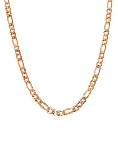 Look at this #zulilyfind! 14k Rose Gold Figaro for mom for Mother's day!