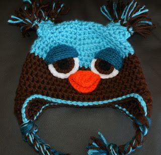 Gorro crochet búho deprimido
