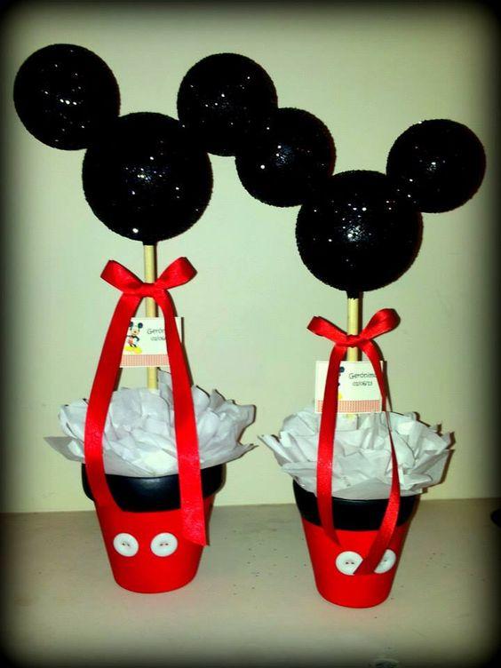 Centros de mesa para cumplea os tem tico mickey mouse mickey mouse centerpieces fiestas Mesa de cumpleanos infantil