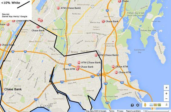 Chase Bank Locations In A White Area Of The Bronx Map Credit - Chase bank locations map