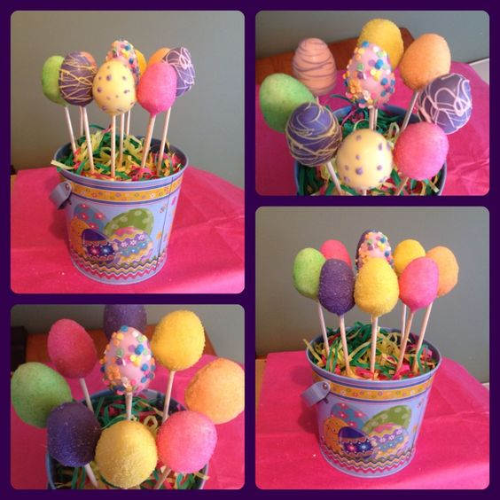 Easter Cake Pop Decorations : Easter cake pops! Cake pops Pinterest Cake pop ...