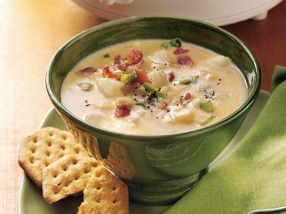 Slow Cooker Cheesy Potato Soup