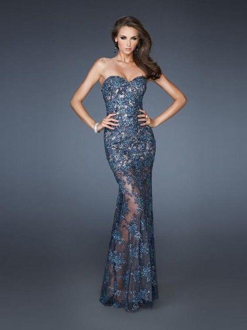 Trumpet/Mermaid Sweetheart Sleeveless Beading Lace Floor-length Dresses