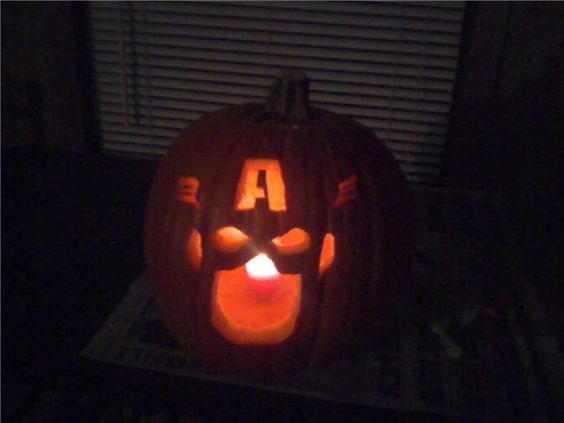 Pumpkins captain america and on pinterest