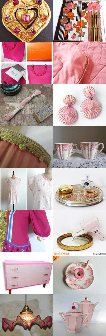 Pink French Gorgeous! by Aurélia Le Mao on Etsy--Pinned+with+TreasuryPin.com