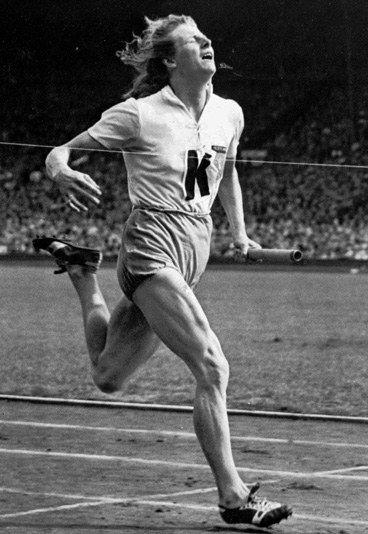 fanny blankers koen | Fanny Blankers-Koen, quatre fois médaillée à Londres 1948