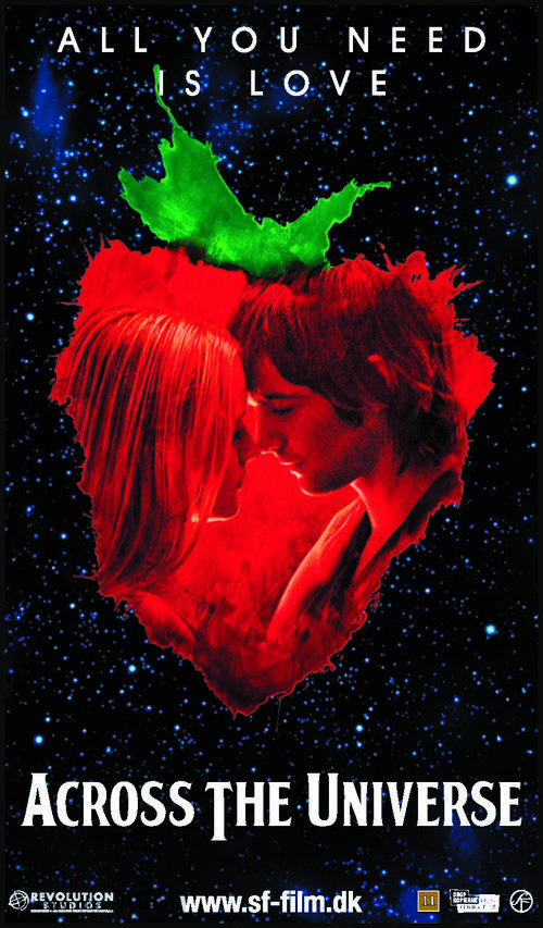 Across The Universe Across The Universe 2007 Danish Movie Poster All You Need Is Love 2d Across The Universe Universe Movie Danish Movies