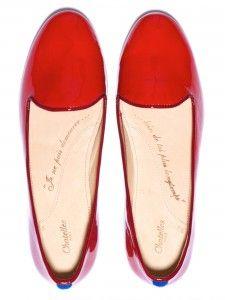 Des slippers Chatelles rouges rubis pour la Saint-Valentin …