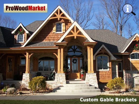 Pinterest the world s catalog of ideas for Cedar gable brackets