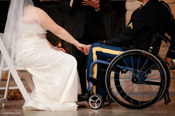 Disabled Vet wedding love photography wedding military soldier