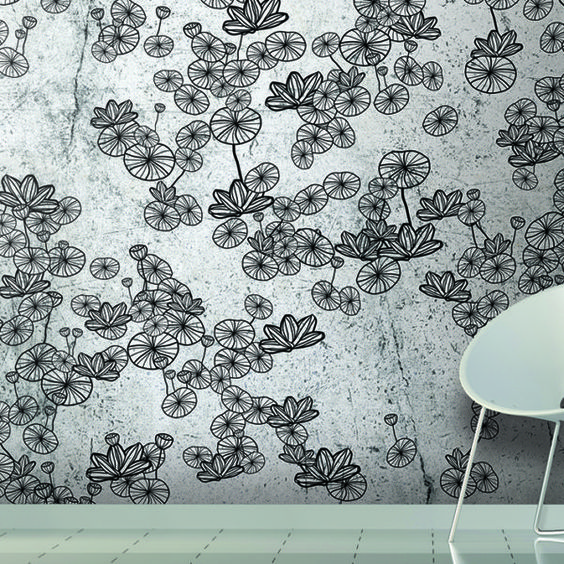 Wallpaper papier paint lotus 56 a taste of oriental meditation due to the lotus flowers symbol of recollection and quietness by skinwall dr