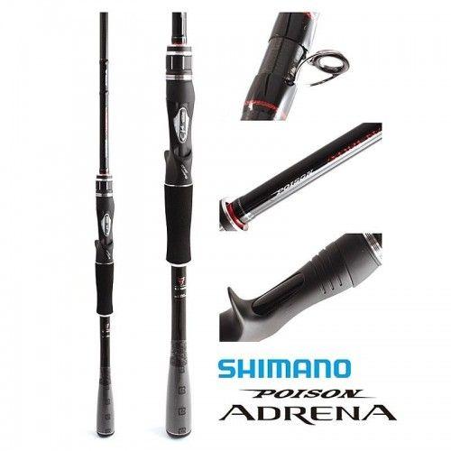 Shimano Poison Adrena CC 2P1610M-2 Baitcasting Rod For Bass Game Fishing