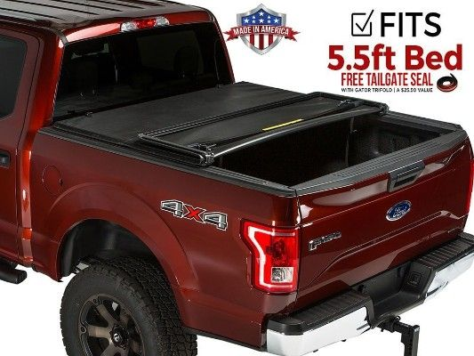 Gator Soft Tri Fold Tonneau Truck Bed Cover 2015 2019 Ford F150 5 5 Ft Bed Tonneau Cover Truck Bed Covers Tri Fold Tonneau Cover