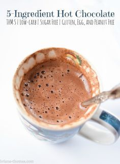 5-Ingredient Hot Chocolate {THM:S, Sugar free, Low-carb, Gluten, Egg, and Peanut free}