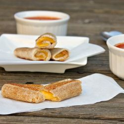 Grilled Cheese Rolls - Easier to dip in the soup :)