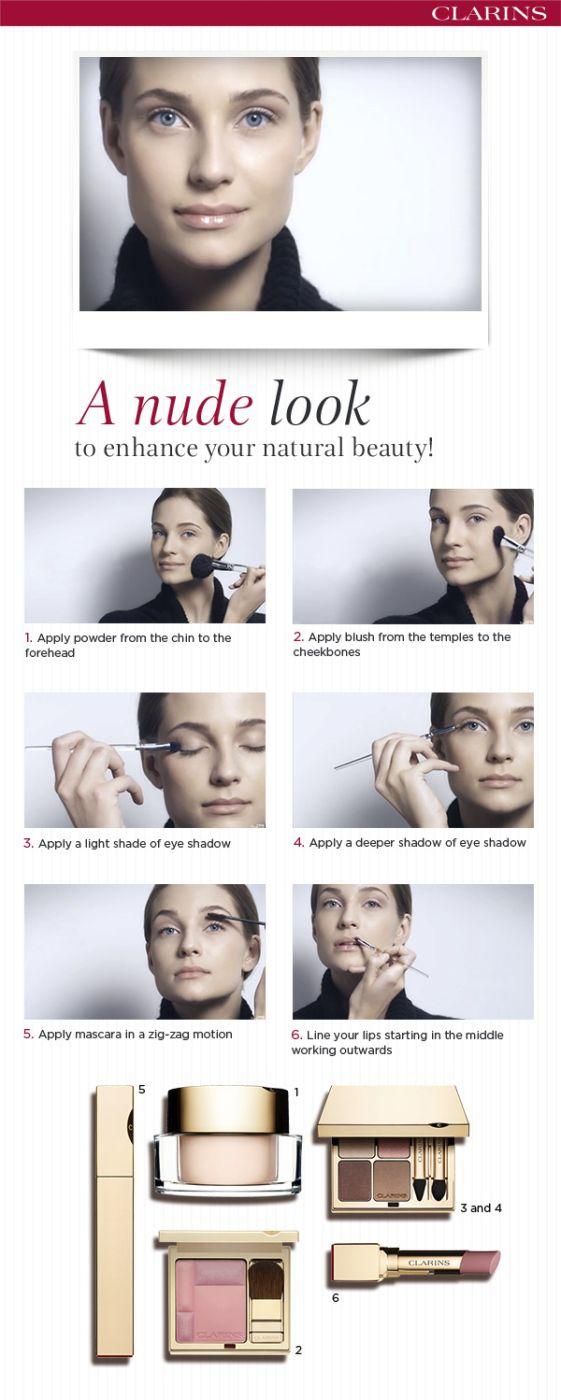 Nude Look .. #clarins #tutorial #makeup #nude