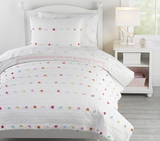 Bright Pom Pom Quilt In 2020 Kids Comforters Comforter Sets Soft Bedding