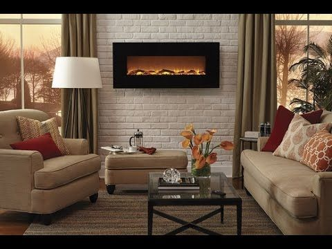 "Touchstone Onyx™ - 50"" Wall Mounted Electric Fireplace (#80001) - Modern Blaze"
