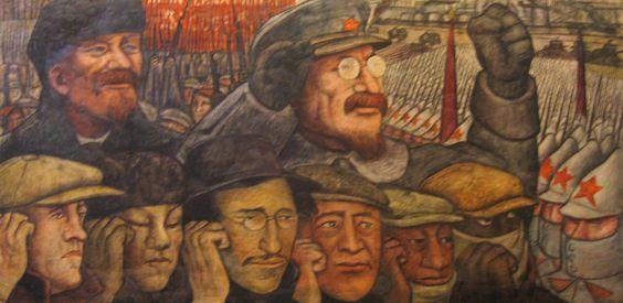 Diego Rivera - Revolución rusa (Lenin & Trotsky)