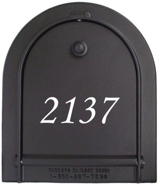 1 45 Tall Colonial Mailbox Decal House Numbers Front Door Decor New Home Gift Mail Organizer Vinyl Decal 1 Decal With Up To 5 Vinyl Decal Address Decals New Home Gifts Mailbox