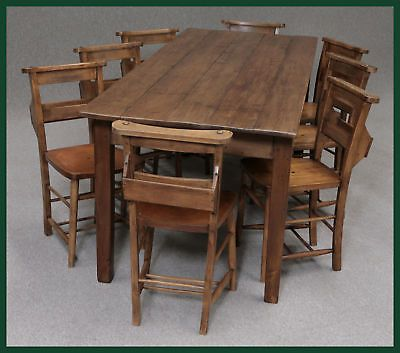 LARGE 8FT FRENCH FARMHOUSE PINE KITCHEN TABLE