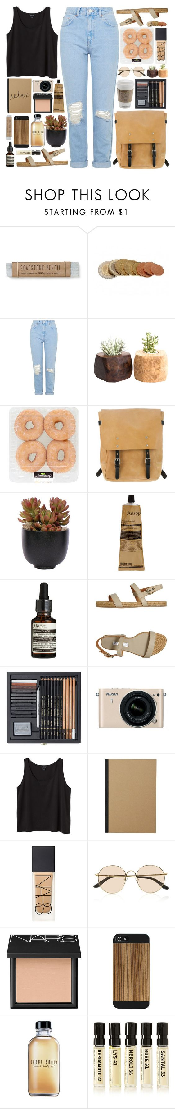 """""""' i would never let you go. '"""" by m-balli ❤ liked on Polyvore featuring Topshop, Ally Capellino, Lux-Art Silks, Aesop, L'Autre Chose, Nikon, Monki, NARS Cosmetics, Acne Studios and The Row"""