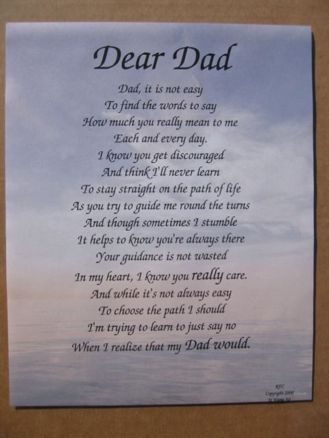 dad poems - photo #13