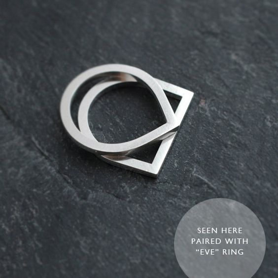 Finer Silvery Adam Smile ring by Minicyn on Etsy