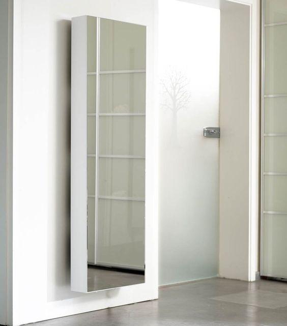Schuhschrank SchuH-Bert 500 MIRROR Spiegelschuhschrank drehbar weiß in Möbel & Wohnen, Möbel, Regale & Aufbewahrung | eBay!