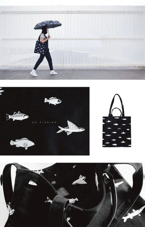 Fish Tote Bag - BKBT  Fish Tote Bag - BKBT Concept