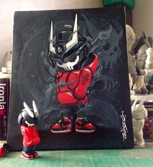 A Toysrevil with Air Jordan Retro signed by the artist QUICCS : https://www.facebook.com/quiccs  #MichaelJordan #ArtJordan #AirJordan #Quiccs