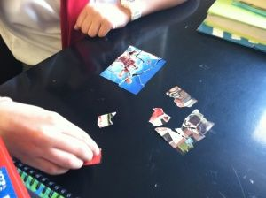 Continental Drift Introduction Lesson Puzzle---like this idea of tearing apart magazine pictures and reassembling them.