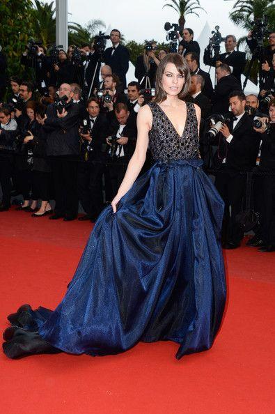 Milla Jovovich in Armani - Cannes Film Festival 2013
