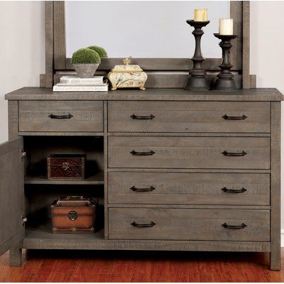 Gracie Oaks Mcmillon 5 Drawer Dresser Colour Grey In 2020 With Images 5 Drawer Dresser Drawers