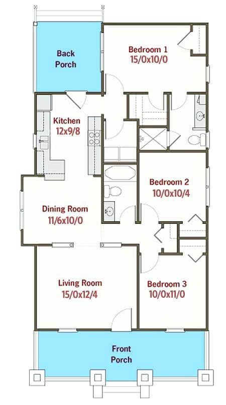 Standard House Plan Collection Engineering Discoveries Craftsman Bungalow House Plans Micro House Plans Drawing House Plans