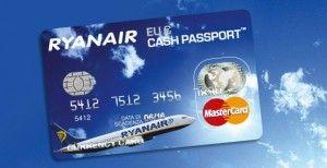 """Ryanair lanza su nueva tarjeta de debito """"Ryanair Cash Passport"""" para evitar pagar los gastos de gestión para la realización de las reservas."""