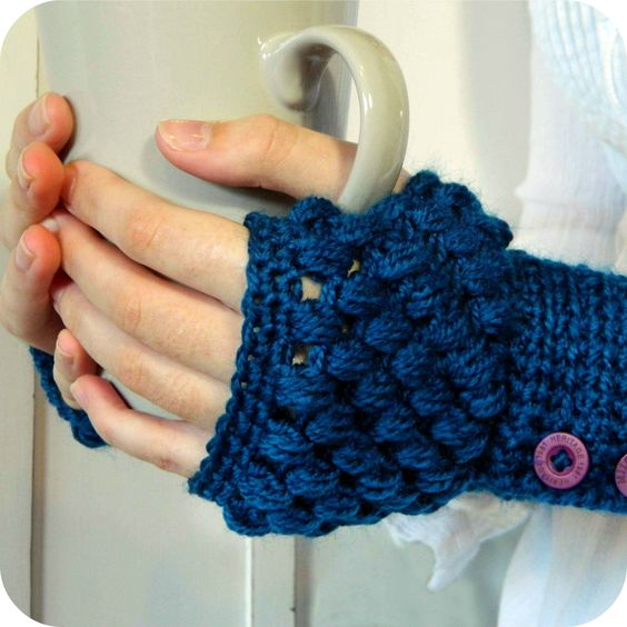 Hopeful Honey | Craft, Crochet, Create: Perfect Solutions! ~ Puff Stitch Fingerless Gloves Pattern