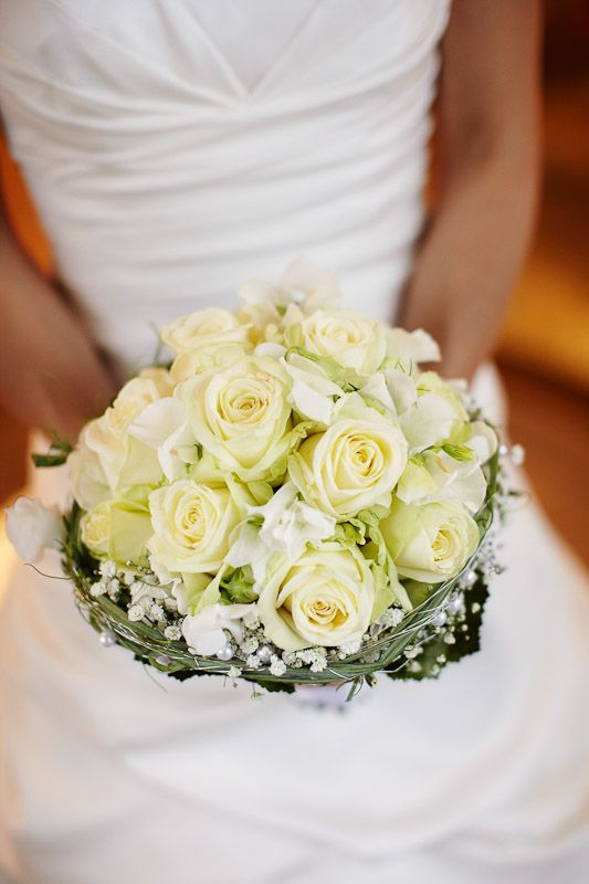 bouquet wedding brautstrauß rosen hell gelb  *Hochzeitelei - Blumen ...