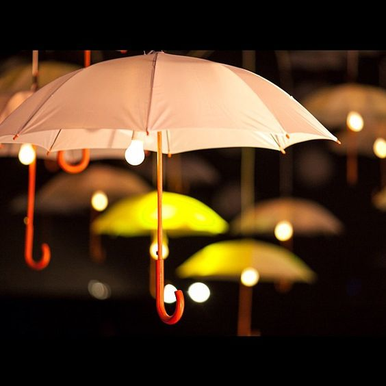White umbrella. Light. Colour2012.