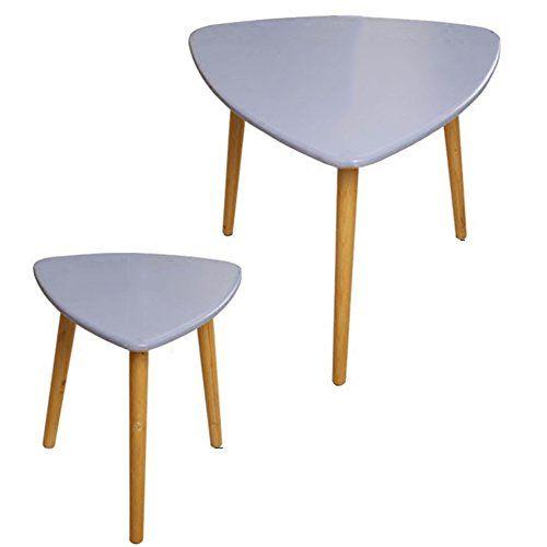 Haipeng Small Triangle Coffee Sofa Side End Bedside Table Set Mini