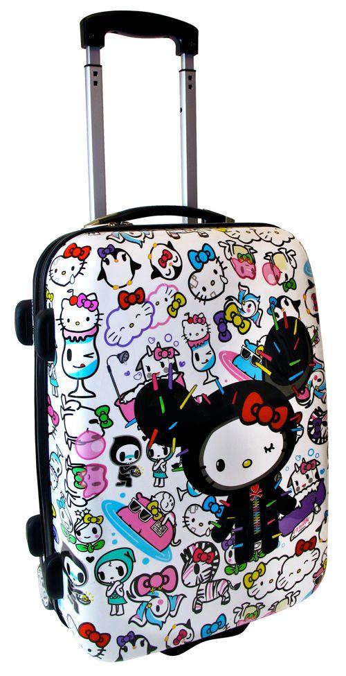 Hello kitty tokidoki suitcase.