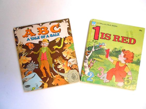ABC a Tale of a Sale and 1 is Red Vintage by lizandjaybooksnmore, $12.00