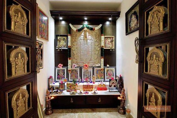 Traditional Pujaroom In 2019 Pooja Room Door Design Puja Room