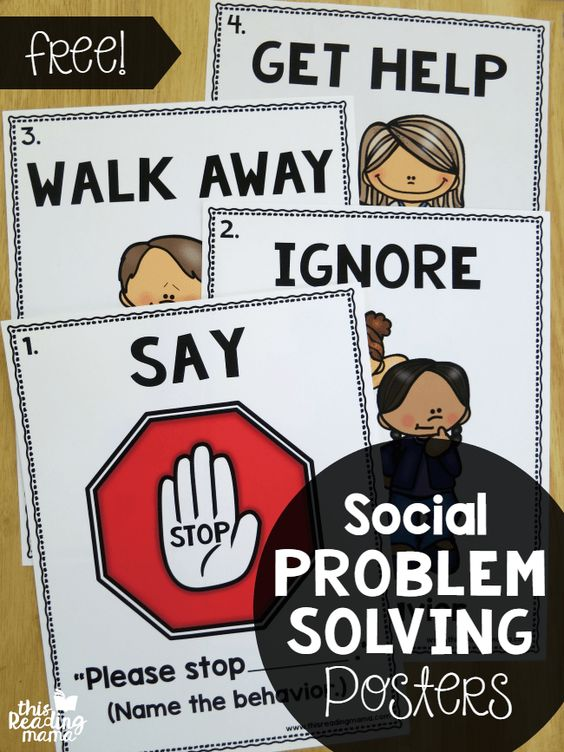 Social Problem Solving Posters {FREE} | This Reading Mama | Bloglovin':