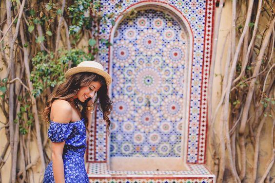 "Mimi Ikonn ""Morocco Lookbook"" – Asos dress, Zara flats, straw hat, vintage necklace, Michael Kors watch | Full video here: https://www.youtube.com/watch?v=7gqXKLKF118:"