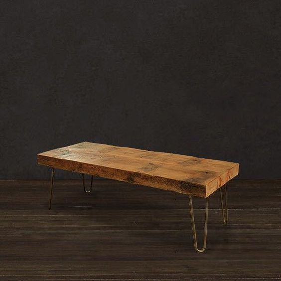 Reclaimed wood beam coffee table for Wood beam coffee table