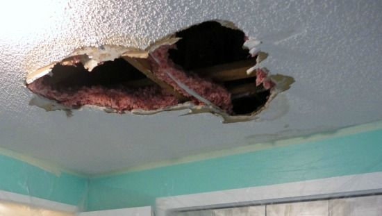 How To Repair A Hole In Your Ceiling Drywall Mom To